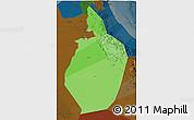 Political Shades 3D Map of Al Dhahira, darken