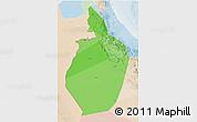 Political Shades 3D Map of Al Dhahira, lighten
