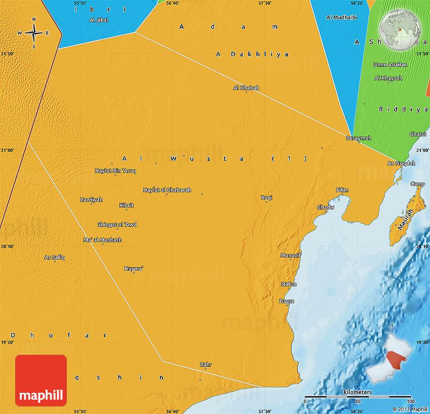 Political Map of Al Wusta