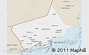 Classic Style 3D Map of Dhofar