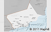 Gray 3D Map of Dhofar