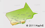 Physical 3D Map of Dhofar, cropped outside