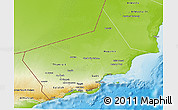 Physical 3D Map of Dhofar