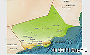 Physical 3D Map of Dhofar, satellite outside