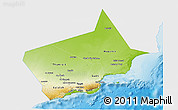 Physical 3D Map of Dhofar, single color outside