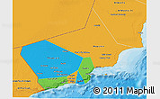 Political 3D Map of Dhofar