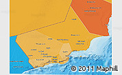 Political Shades 3D Map of Dhofar