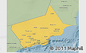 Savanna Style 3D Map of Dhofar
