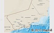 Shaded Relief 3D Map of Dhofar