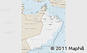 Classic Style Map of Oman