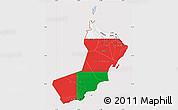 Flag Map of Oman