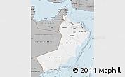 Gray Map of Oman