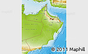 Physical Map of Oman