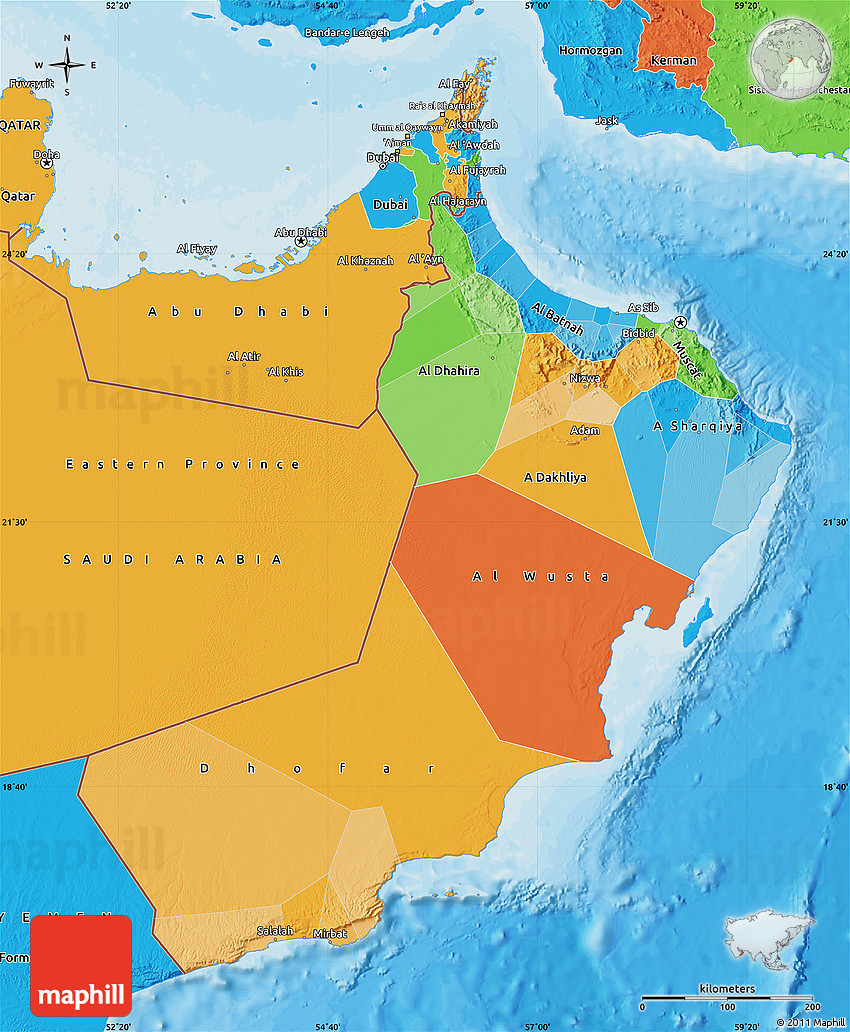 Political Map of Oman