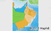 Political Shades Map of Oman