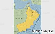 Savanna Style Map of Oman