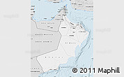 Silver Style Map of Oman