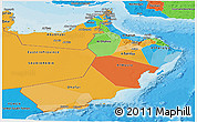 Political Panoramic Map of Oman