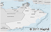 Silver Style Panoramic Map of Oman