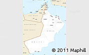 Classic Style Simple Map of Oman