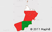 Flag Simple Map of Oman