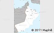 Gray Simple Map of Oman