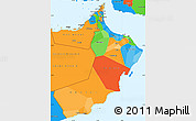 Political Simple Map of Oman