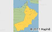 Savanna Style Simple Map of Oman