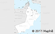 Silver Style Simple Map of Oman