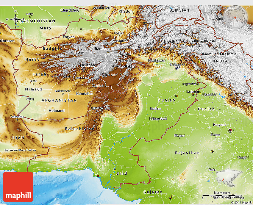 topographic map of pakistan Physical 3d Map Of Pakistan