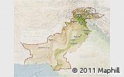 Satellite 3D Map of Pakistan, lighten