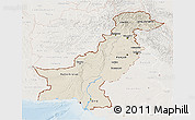 Shaded Relief 3D Map of Pakistan, lighten