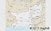 Classic Style 3D Map of Baluchistan