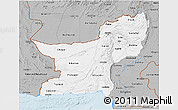Gray 3D Map of Baluchistan