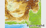 Physical 3D Map of Baluchistan