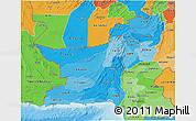 Political Shades 3D Map of Baluchistan