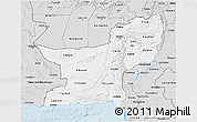 Silver Style 3D Map of Baluchistan