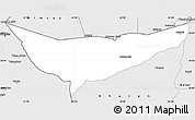 Silver Style Simple Map of Chagai