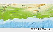 Physical 3D Map of Gwadar