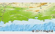 Physical Map of Gwadar