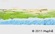 Physical Panoramic Map of Gwadar