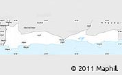 Silver Style Simple Map of Gwadar