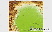 Physical Panoramic Map of Kachhi