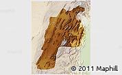 Physical 3D Map of Kalat, lighten