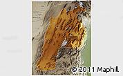 Physical 3D Map of Kalat, semi-desaturated