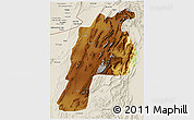 Physical 3D Map of Kalat, shaded relief outside