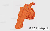 Political 3D Map of Kalat, cropped outside