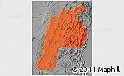 Political 3D Map of Kalat, desaturated