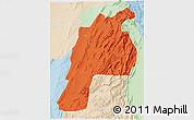 Political 3D Map of Kalat, lighten