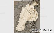 Satellite 3D Map of Kalat, darken